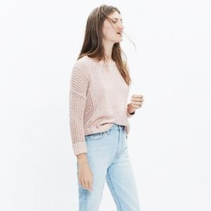 Madewell | Blush Marled Plaza Pullover Sweater MD